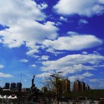 京都的藍天白云